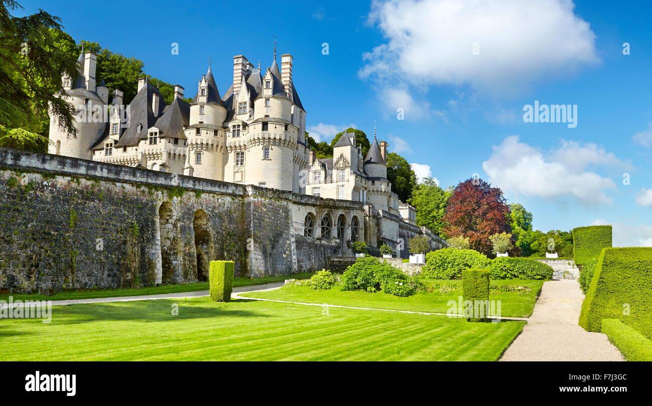 Usse Burg, Usse, Loiretal, Frankreich Stockbild