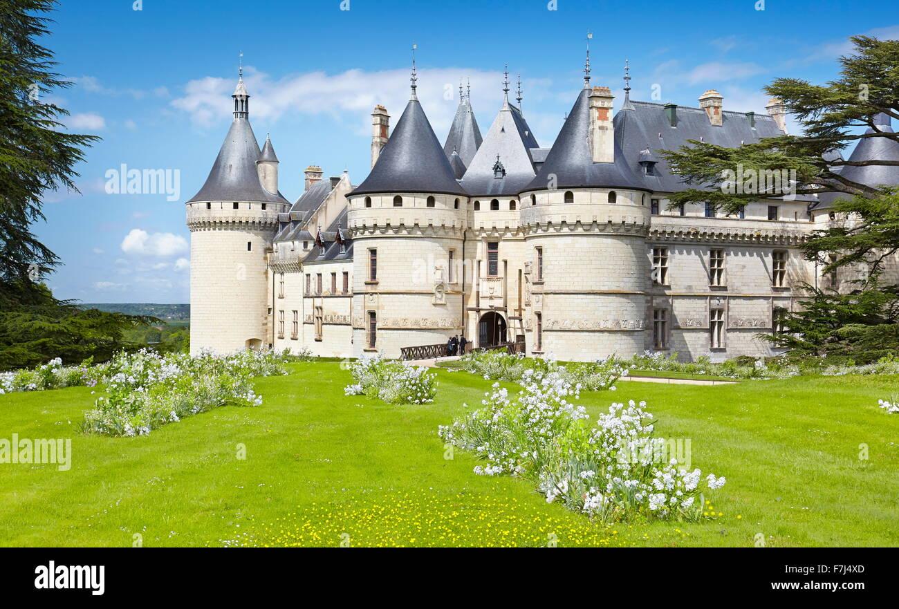 Schloss Chaumont, Chaumont-Sur-Loire, Loire-Tal, Frankreich Stockbild