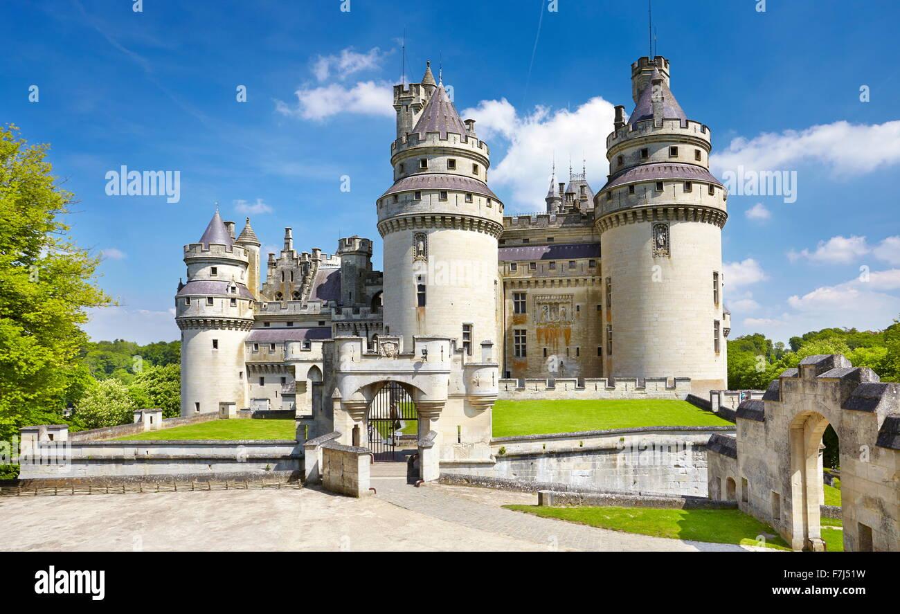Frankreich - Schloss Pierrefonds, Picardie (Picardie) Stockbild