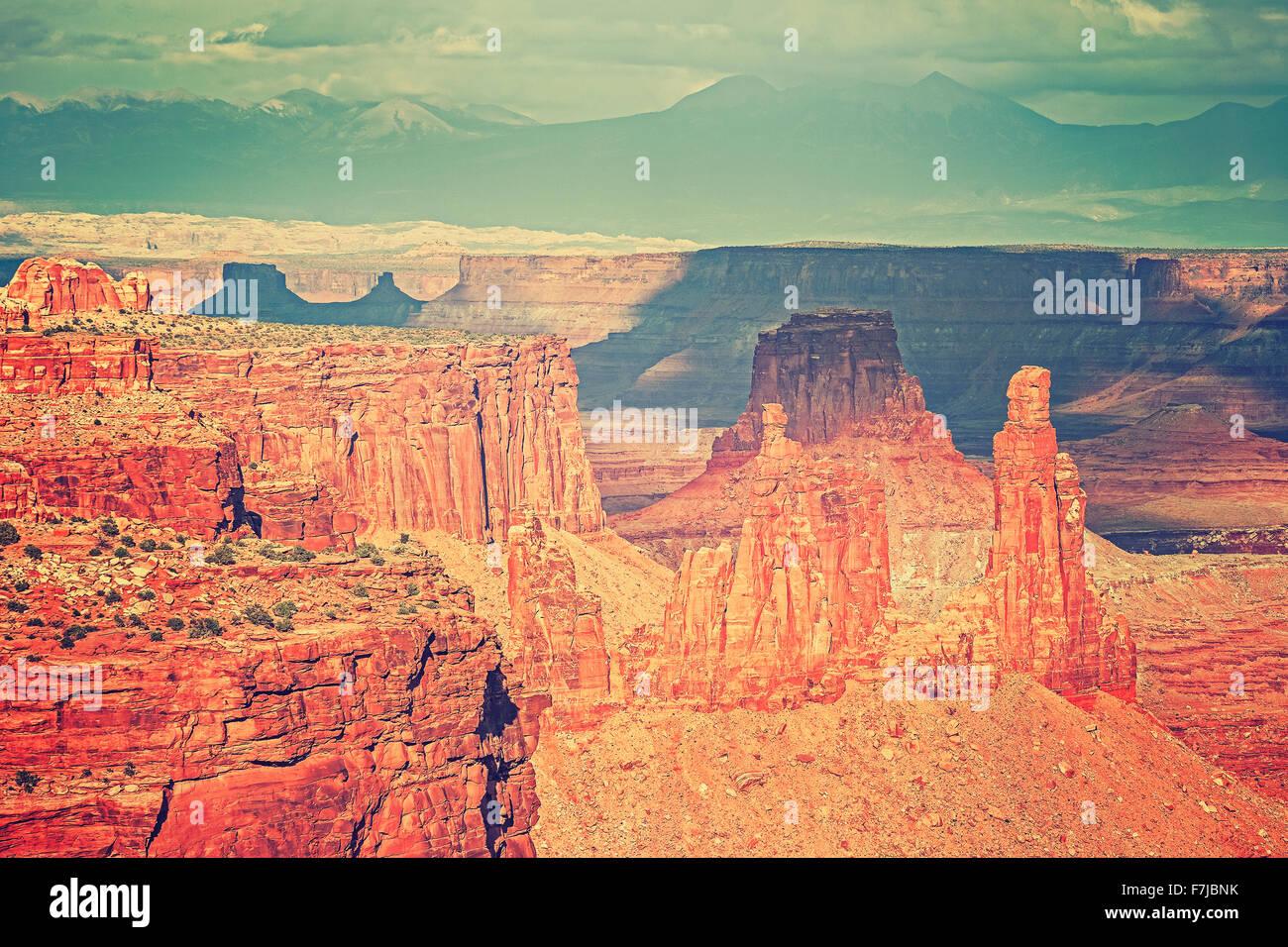 Berglandschaft mit roten Canyon, Utah, USA. Stockbild