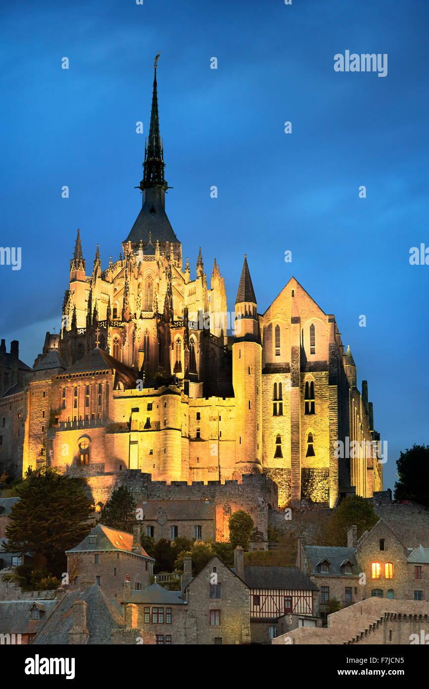 Mont Saint Michel, Normandie, Frankreich Stockfoto
