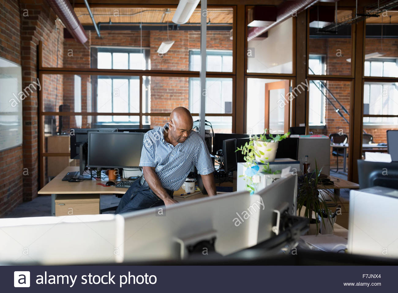 Geschäftsmann, arbeiten im Büro Stockbild