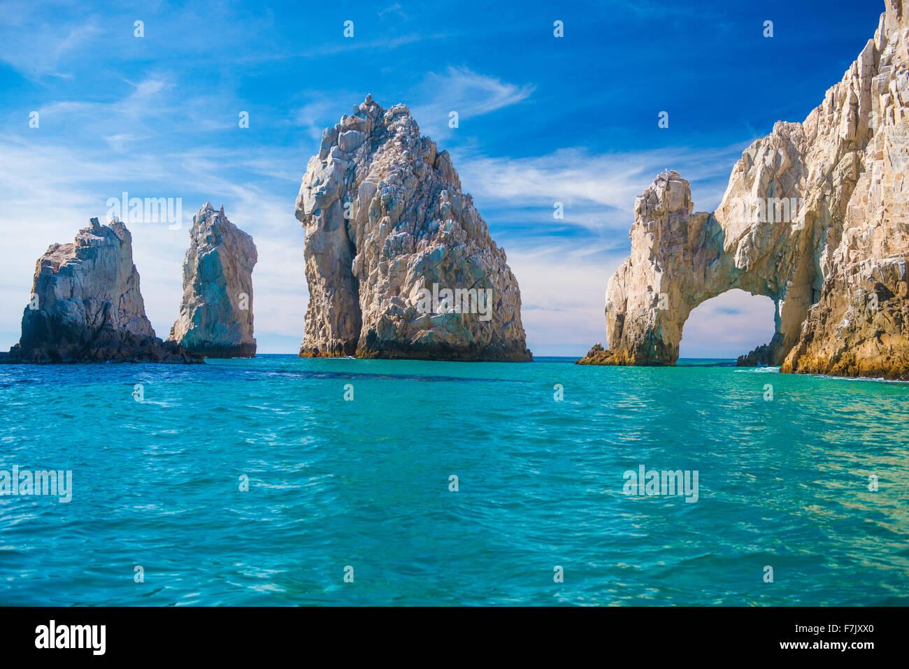 Arch, Baja California, Mexiko Meer Arch in Endland, Tipp von Baja Peninsula in Cabo San Lucas Stockbild