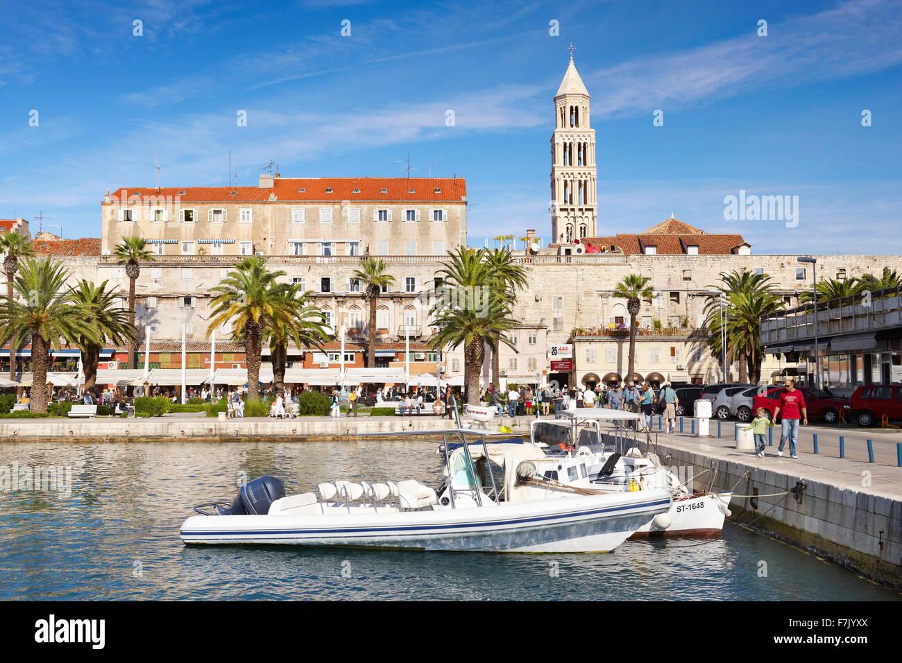 Split, Kroatien, kleinen Hafen in Split, Dalmatien Region in Kroatien Stockbild