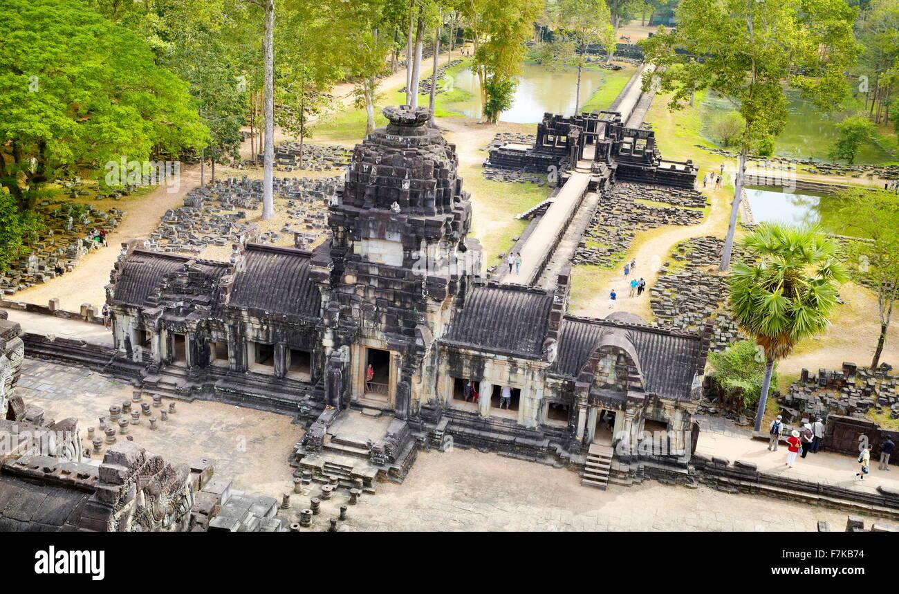 Ruinen des Baphuon Tempel, Angkor Thom, Kambodscha, Asien Stockbild