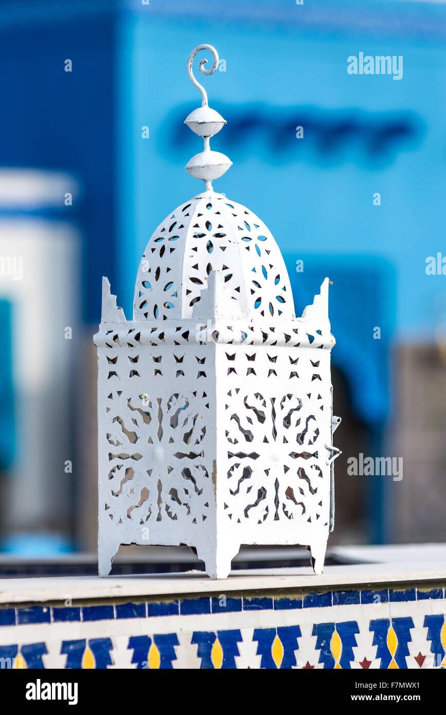 Weiße arabische Laterne Stockbild