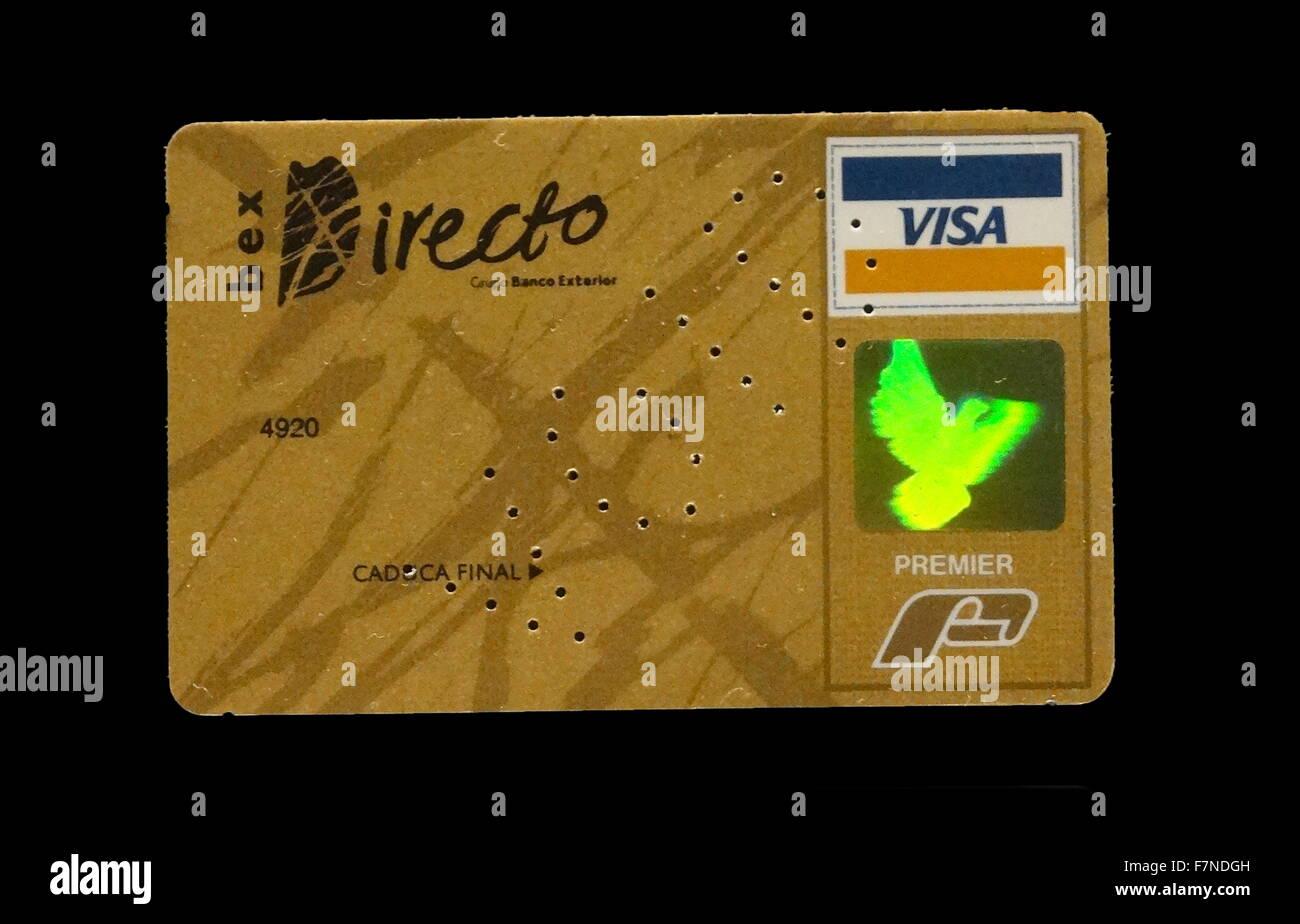 Bex Directo Visa-Karte, Venezuela, 1990er Jahre Stockbild