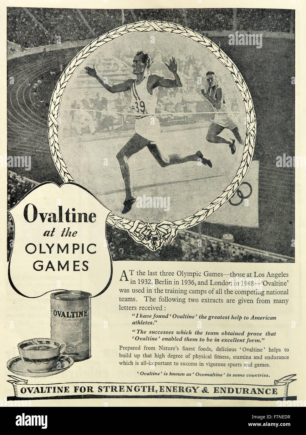 Ovomaltine Getränk beworben mit einem Olympia-Thema für die ...