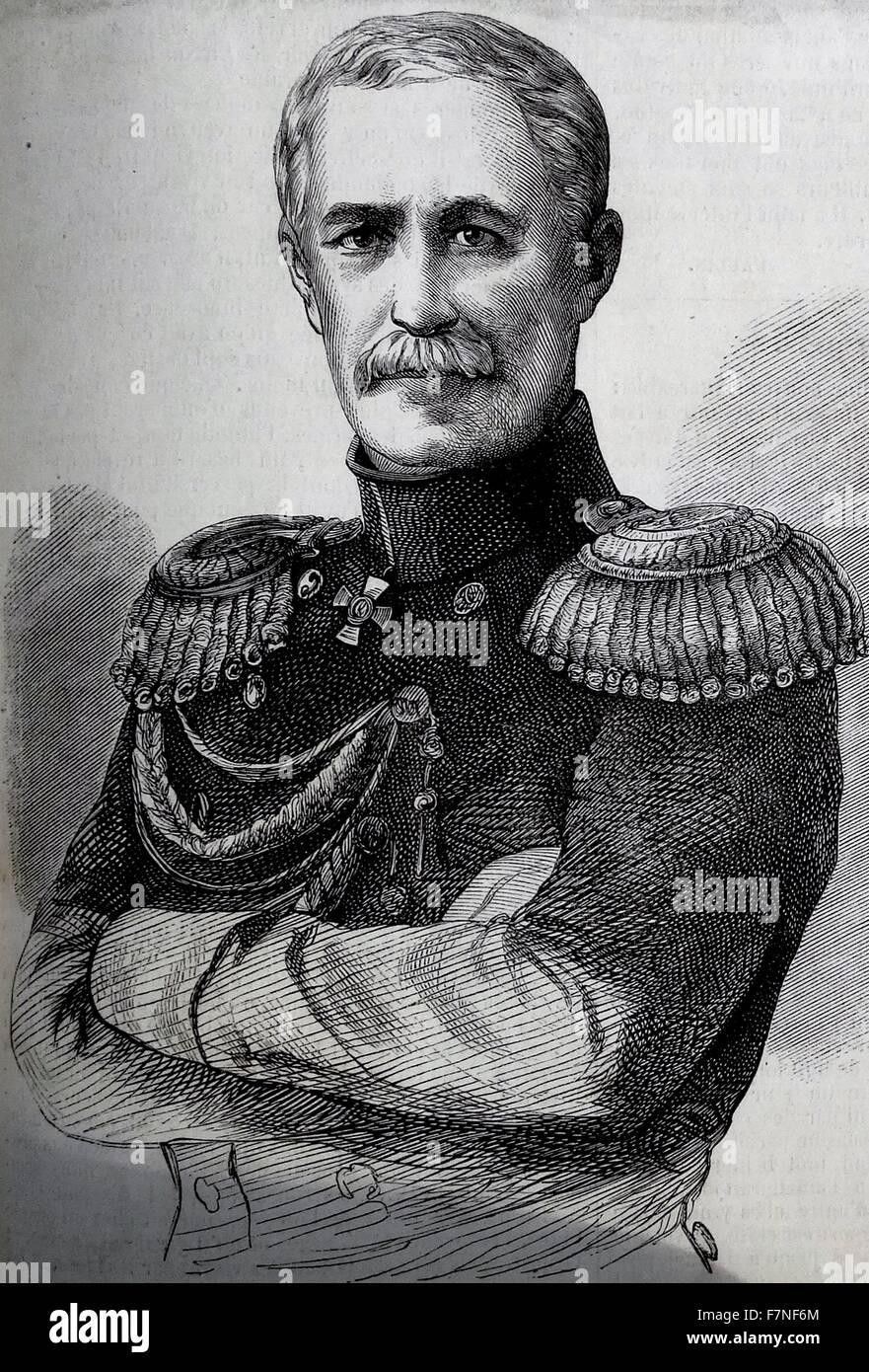 Prinz Mentschikoff hatte Sebastopol, von sechzehn tausend Männer, besetzt von denen drei Viertel Seeleute, Stockbild