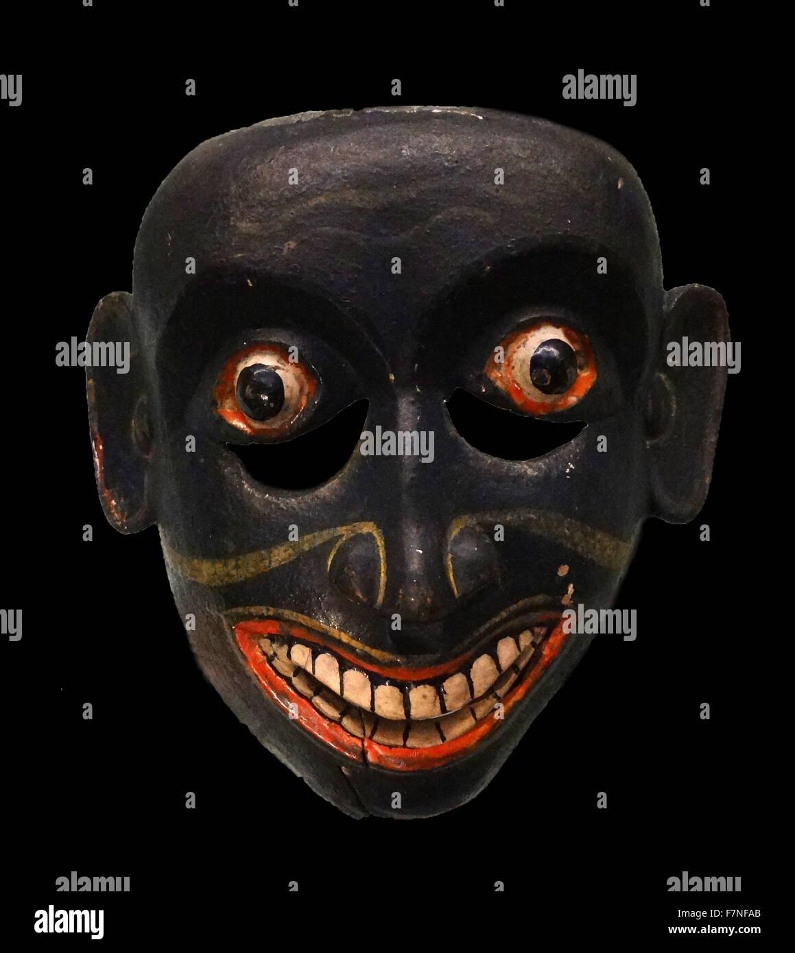 Maske repräsentieren einen Dämon passt, aus Sri Lanka zugeordnet. Datiert 1880 Stockbild