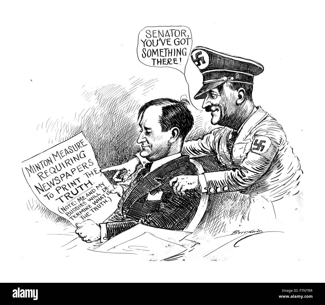 Politische Satire Aus Berryman Politischer Cartoon Sammlung