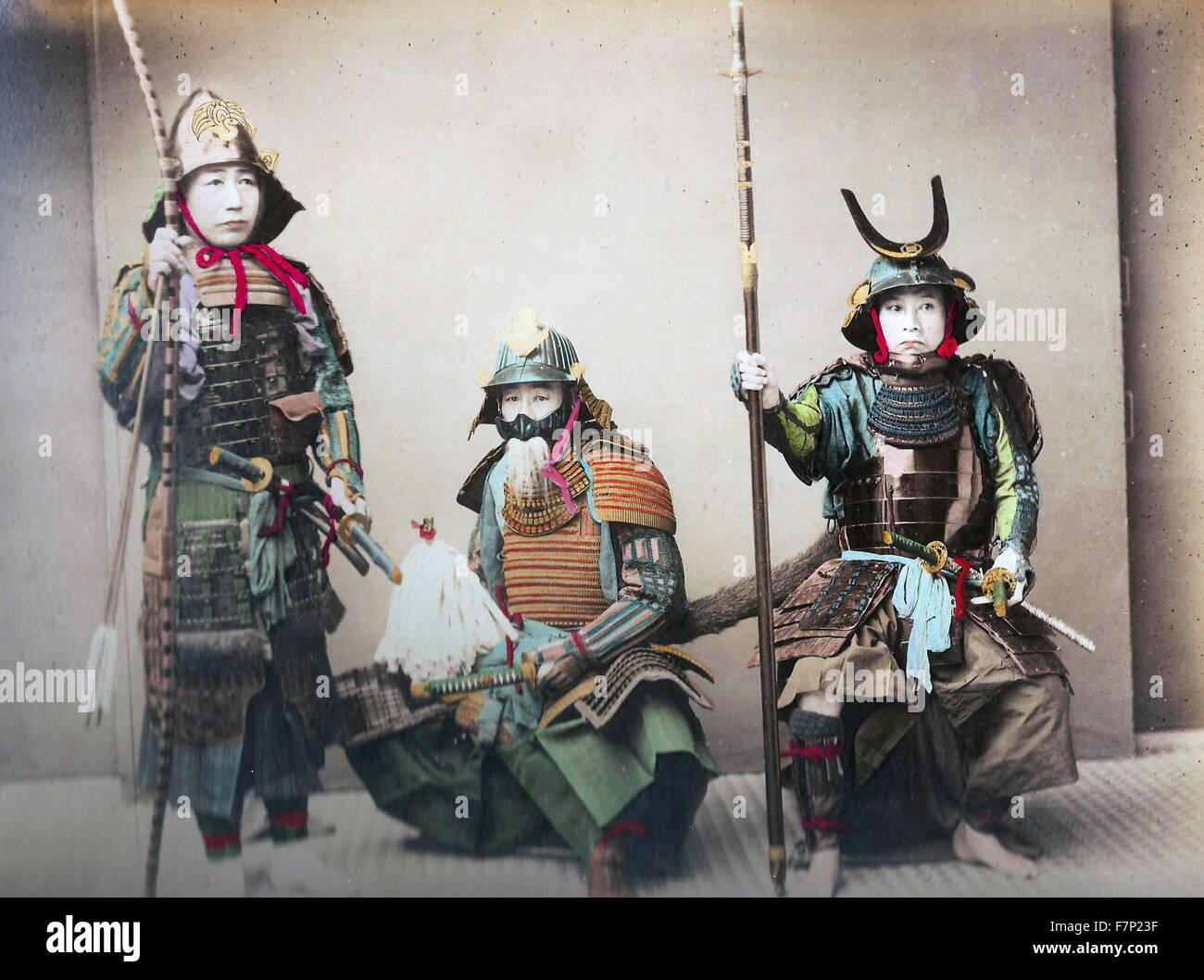 japanische samurai krieger 1900 stockfoto bild 90839043