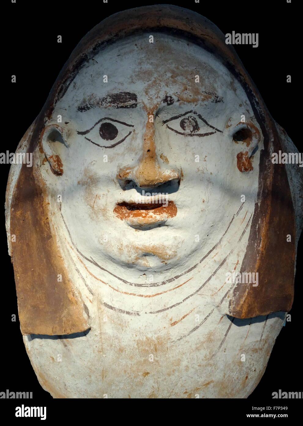 Oberen Teil Von Einem Agyptischen Sargdeckel Kalkstein 26