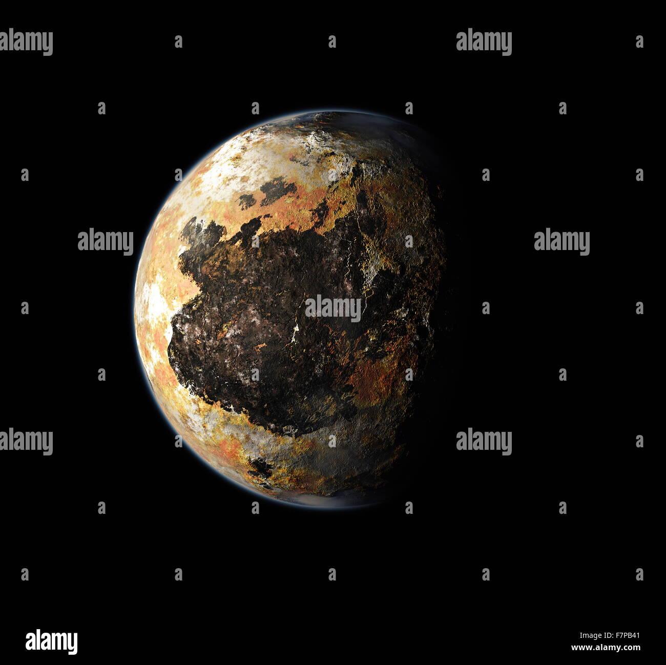 Des Künstlers Konzept Plutos Südpol 2015 Stockbild