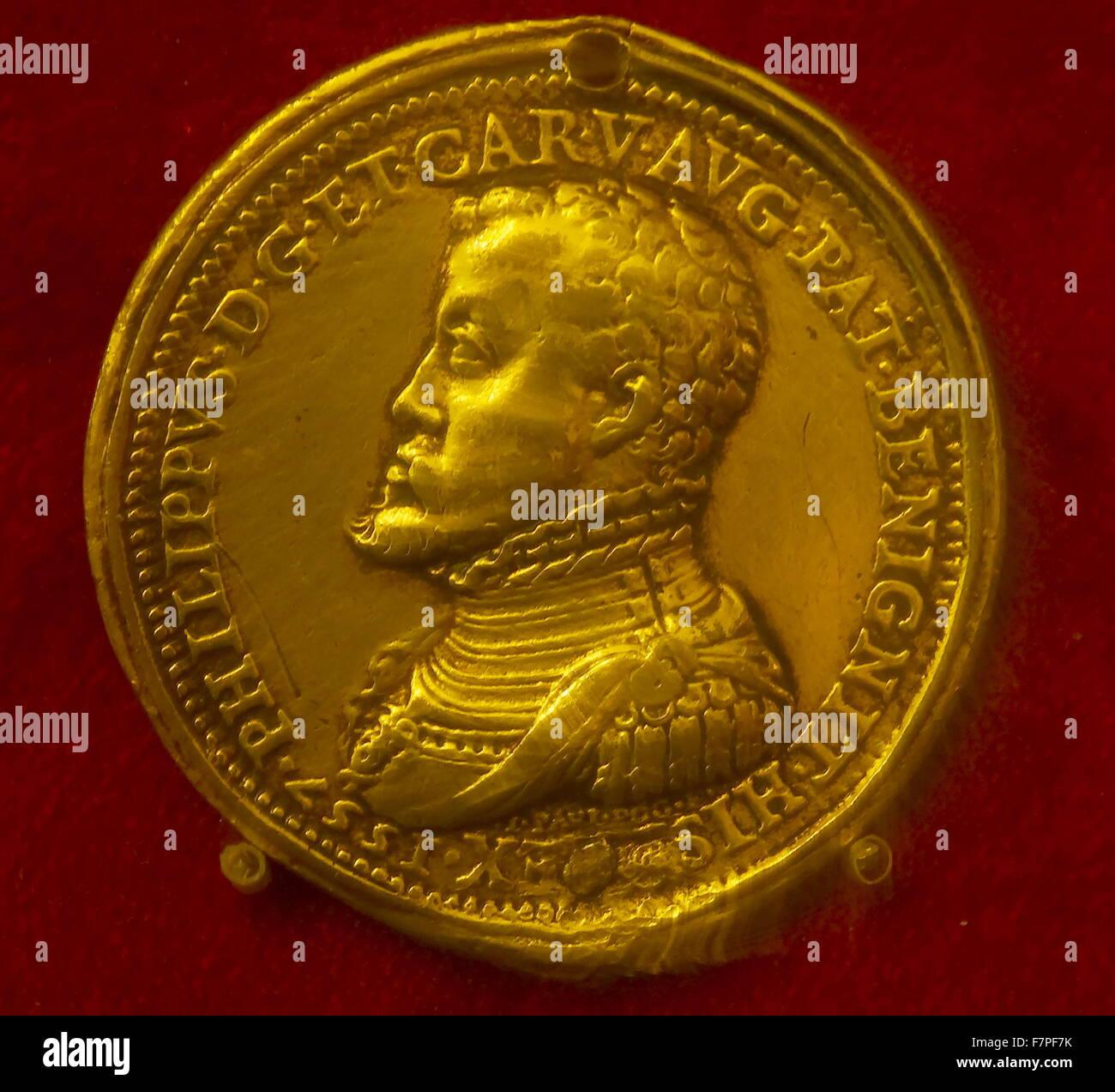 Münze Mit Phillip Ii Von Spanien 1527 1598 König Von Spanien