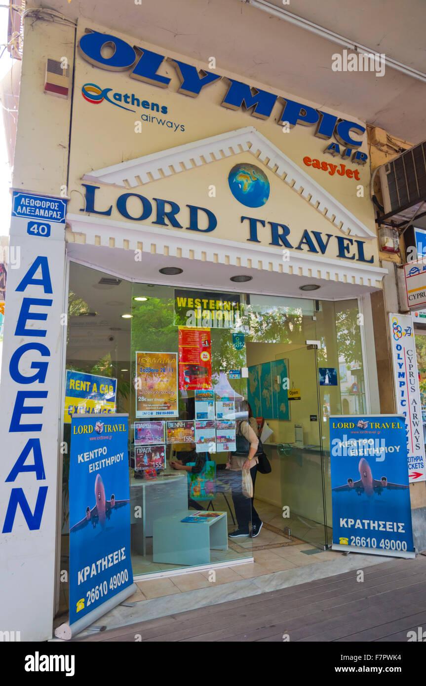 Reisebüro, Korfu, Kerkyra, Korfu, Ionische Inseln, Griechenland Stockbild