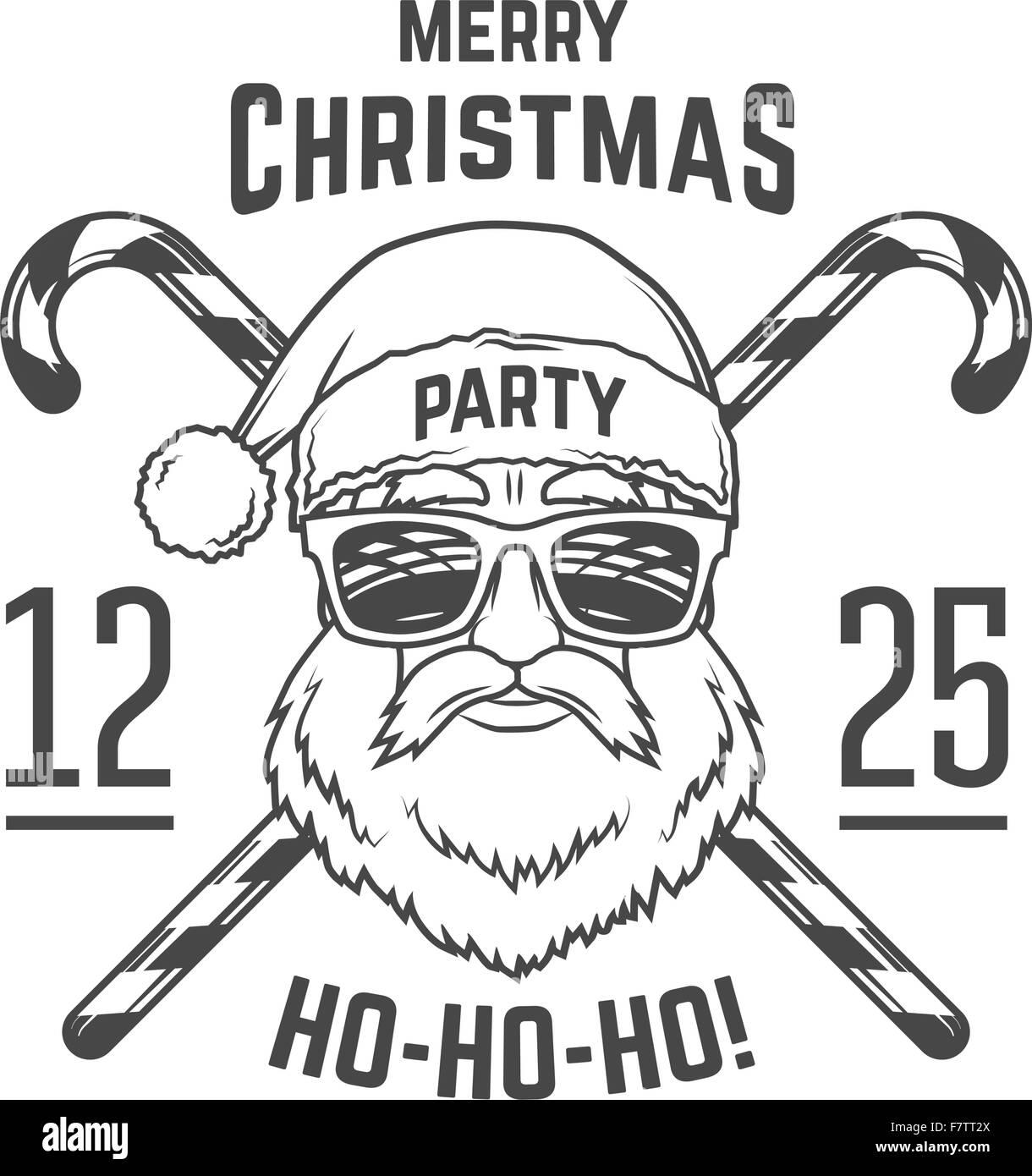 Santa Claus mit Hipster Gläser und Süßigkeiten Kegel print-Design ...