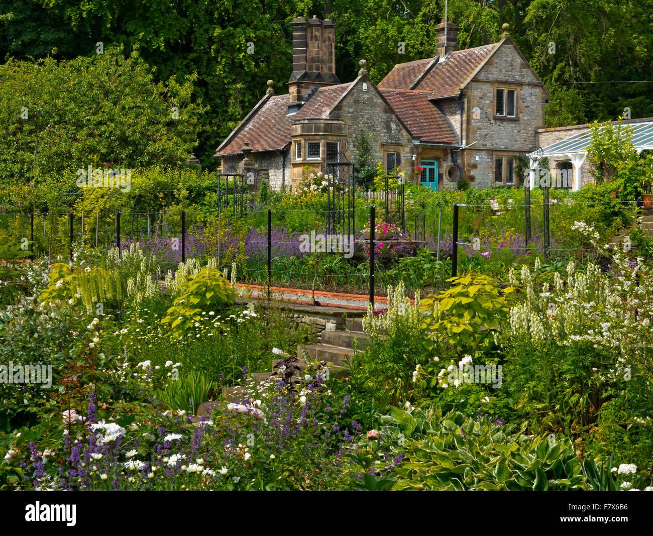 Der Küchengarten in Thornbridge Hall ein Landhaus in der Nähe von ...