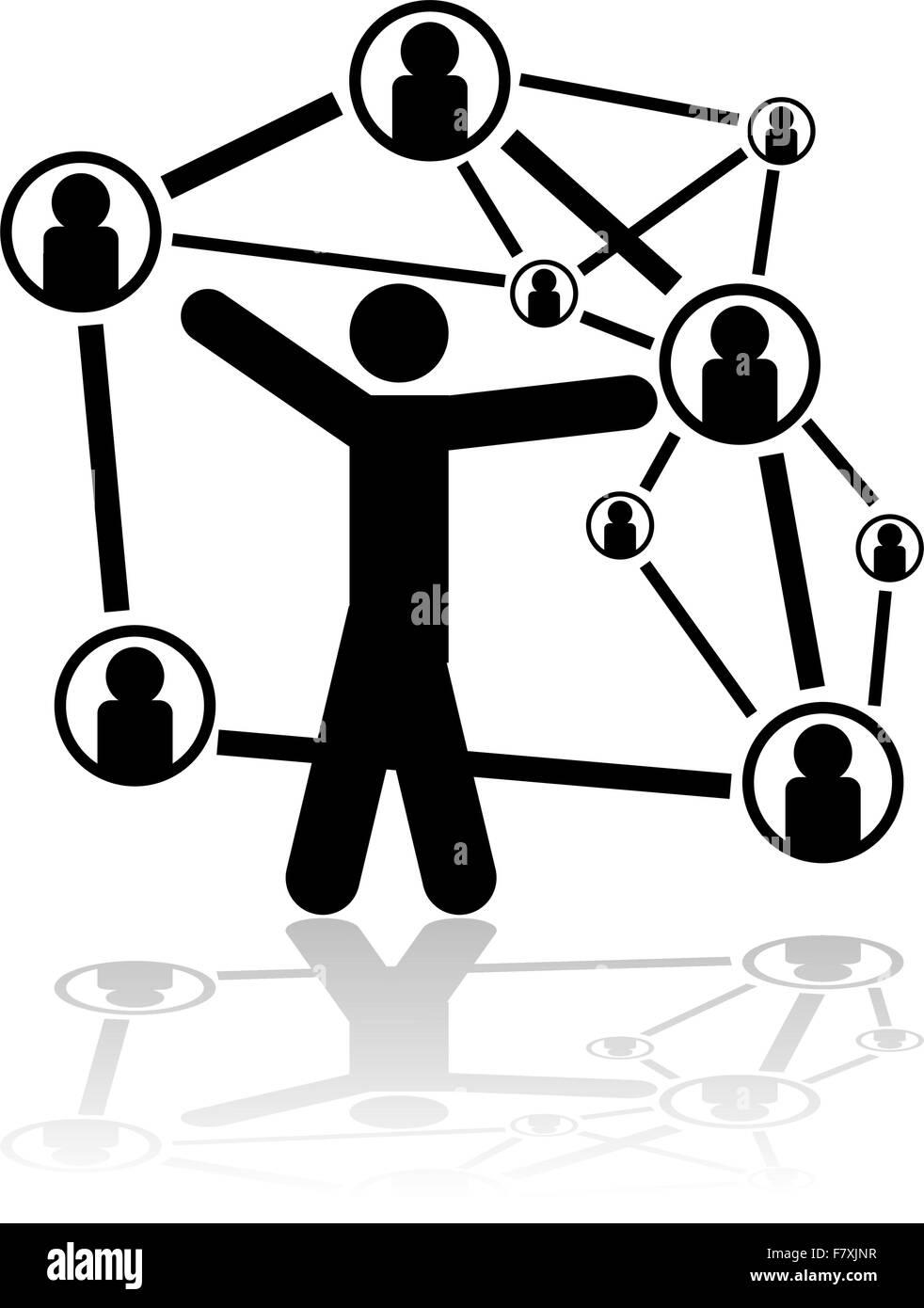 Menschen connexions Stockbild
