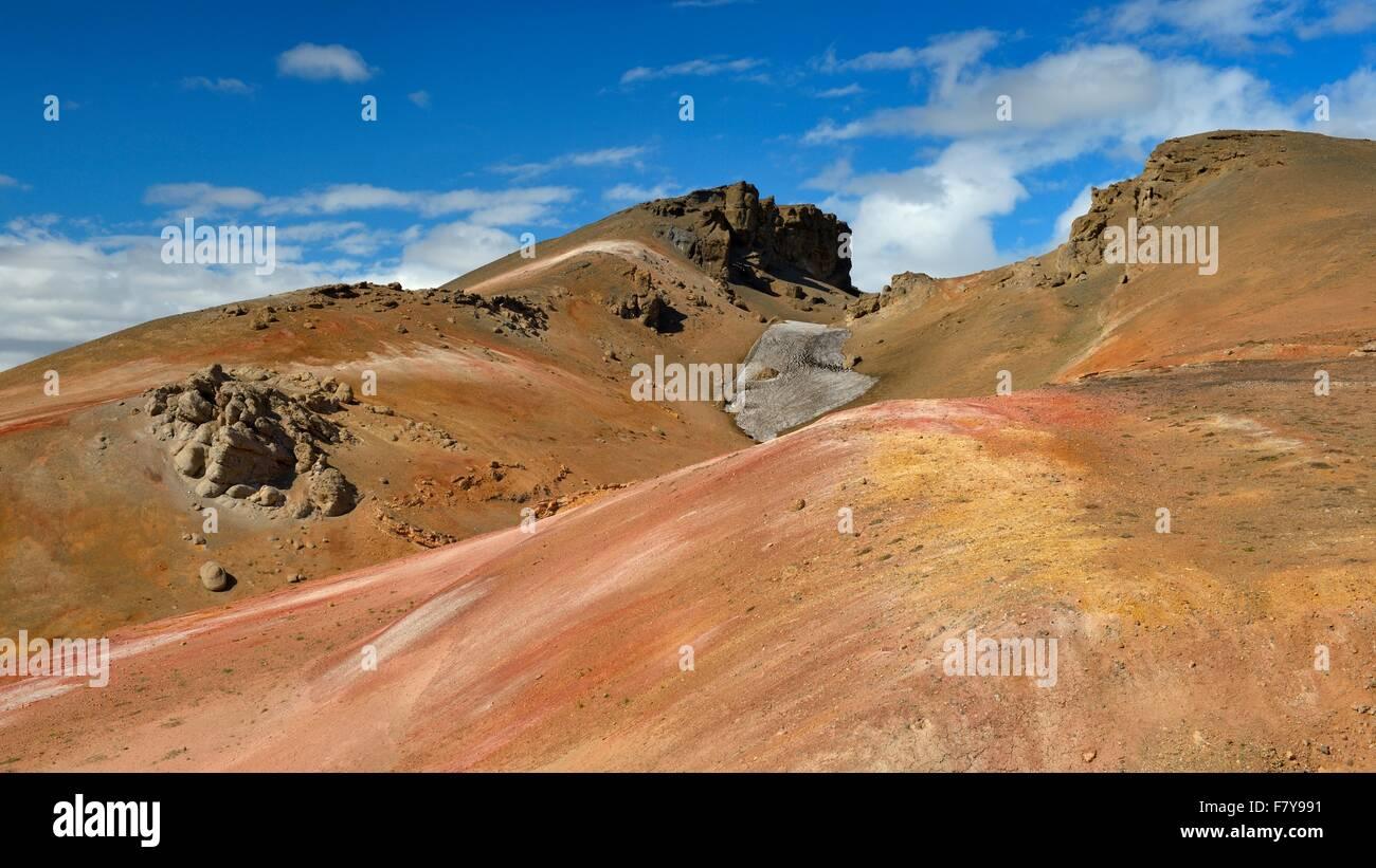 Geothermische Gebiet, Namafjall, Myvatn, Island Stockbild