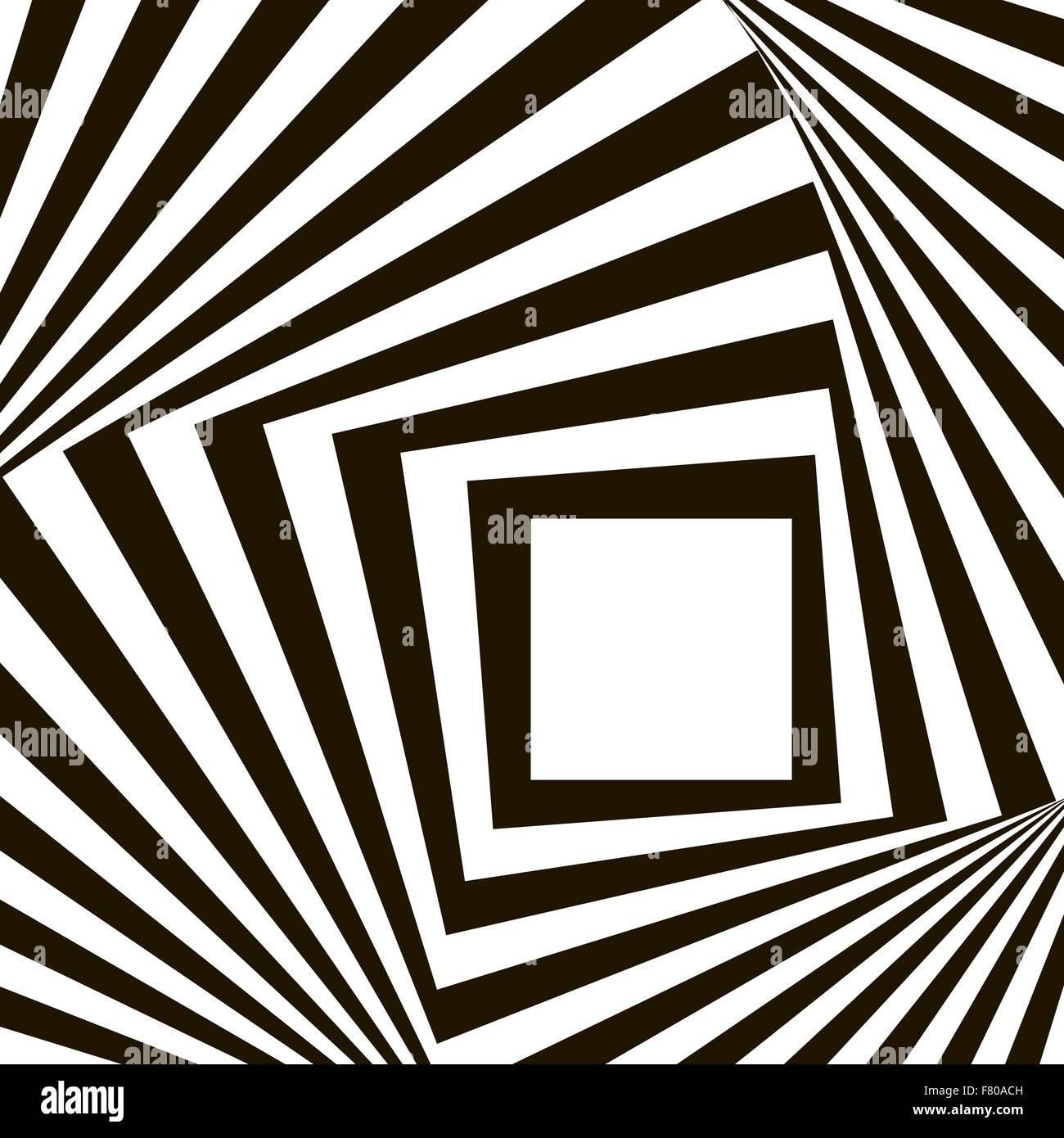 Geometrische schwarz-weiß Vektormuster Stockbild