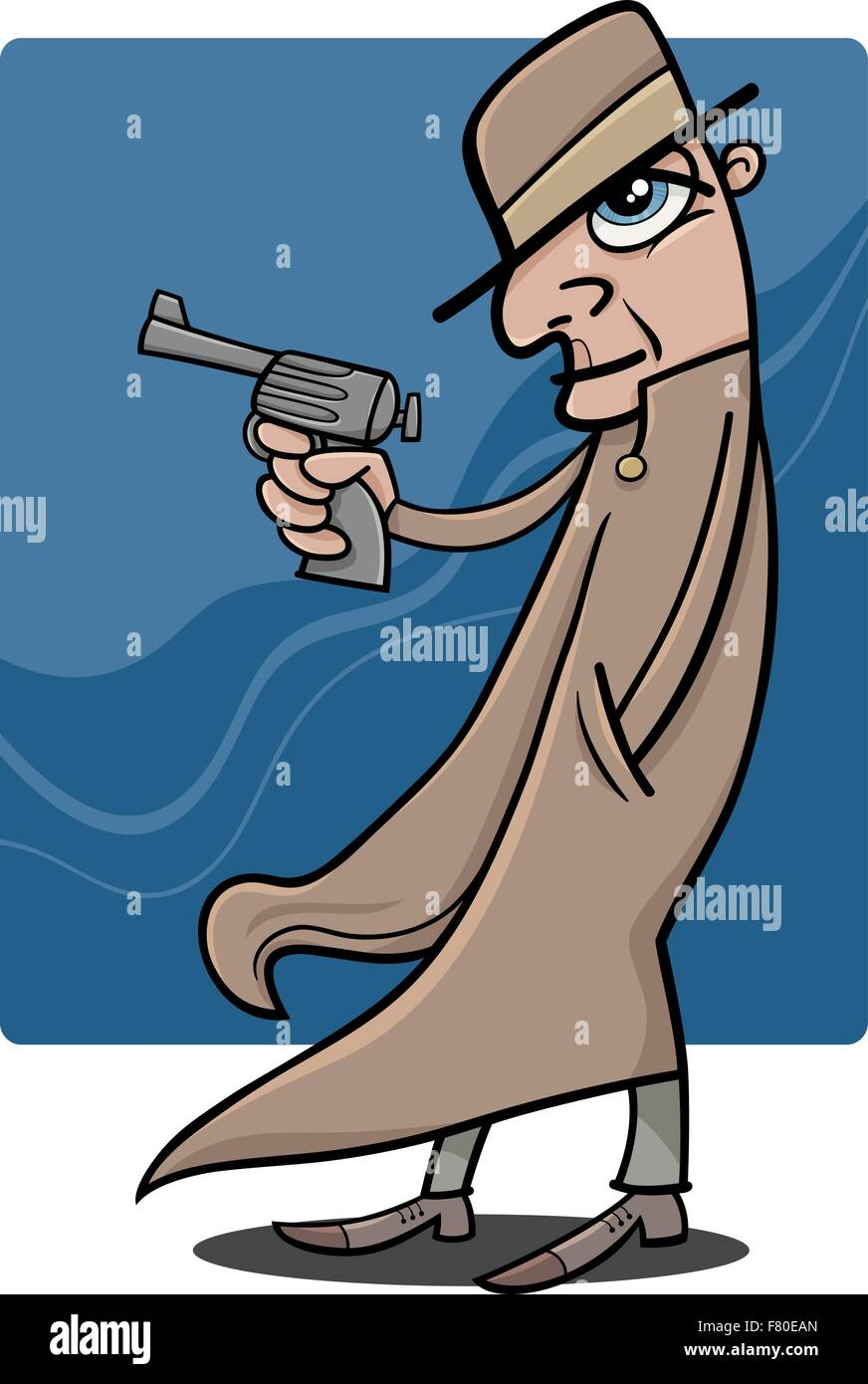 Cartoon Gun Gangster Stockfotos & Cartoon Gun Gangster Bilder ...