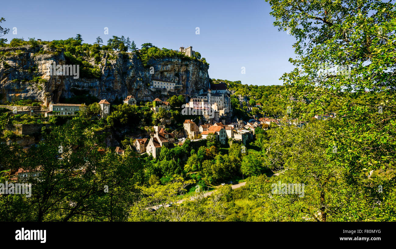 Rocamadour, Lot, Midi-Pyrenäen, Frankreich Stockbild