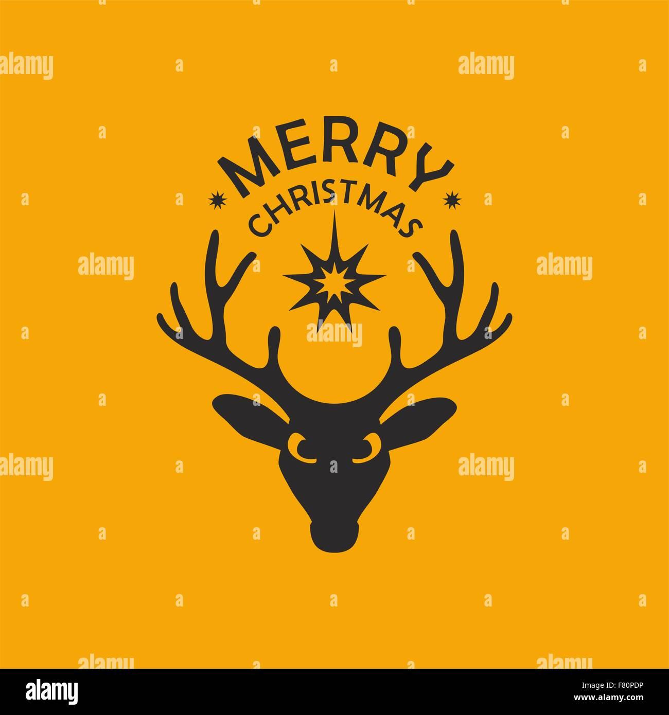 Hintergrund und Gruß oder Einladung Weihnachtskarte mit Hirsch und ...
