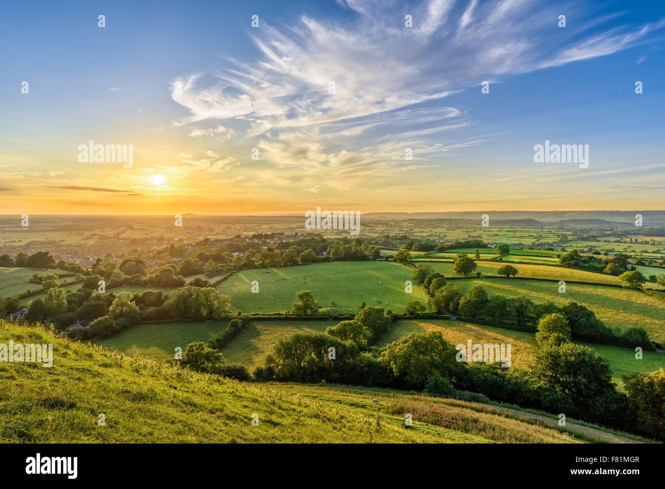 Somerset Levels, England Stockbild