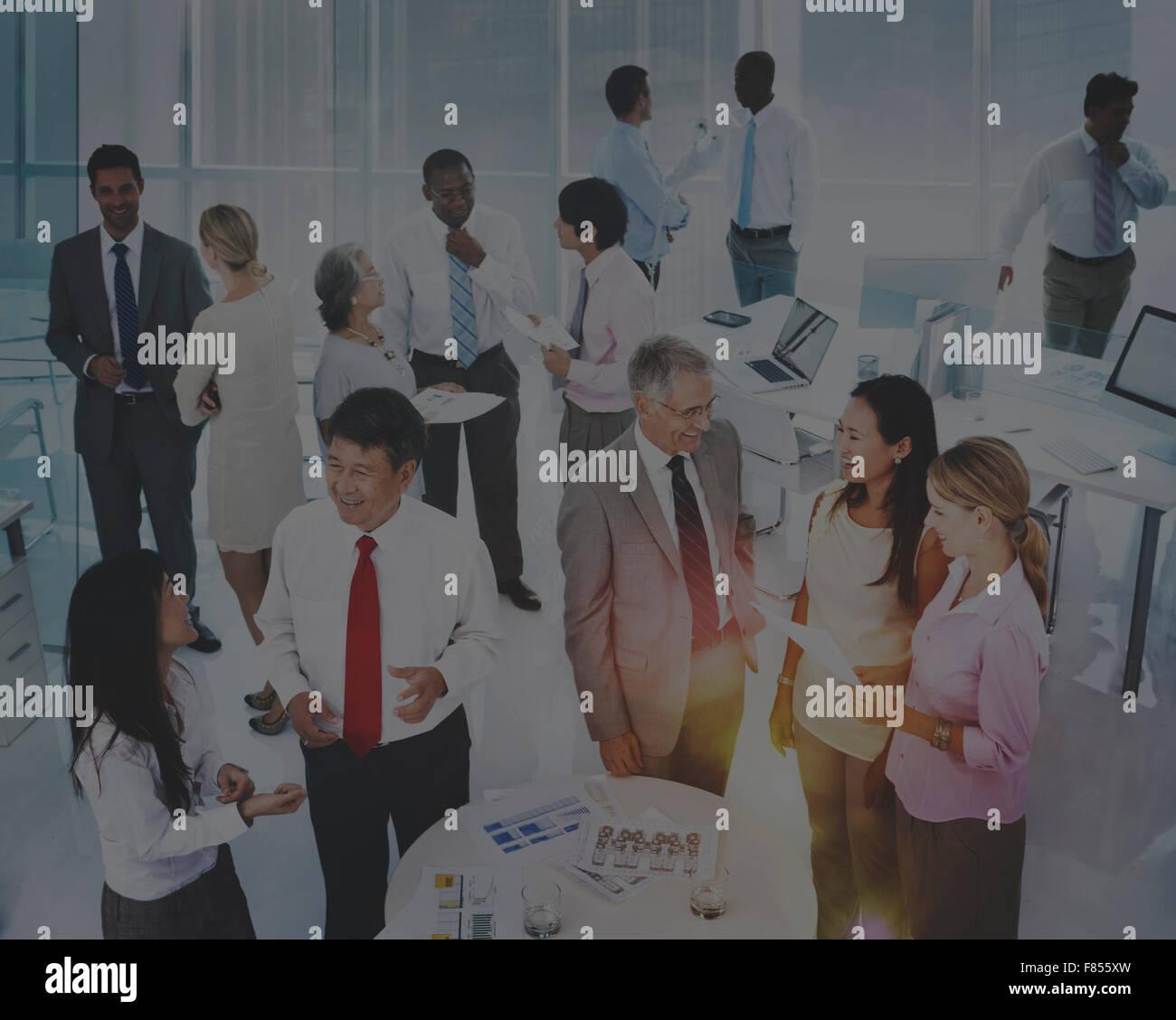 Kommunikation Verbindung Kooperationskonzept Berater Stockbild