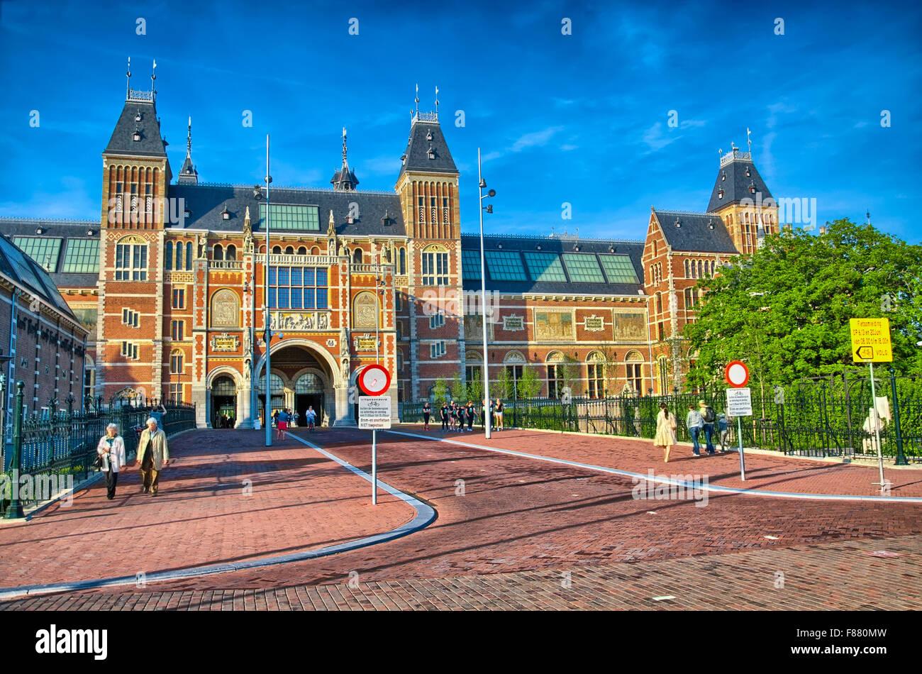 Rijksmuseum Amsterdam Museum in Holland, Netherlads, HDR Stockbild