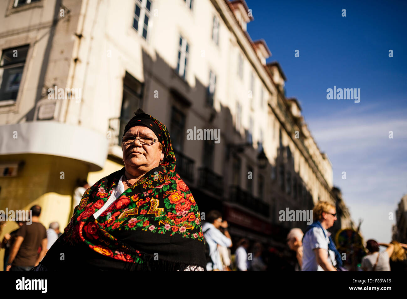 Internationale Festival iberischen Maske, Lissabon, Portugal Stockbild