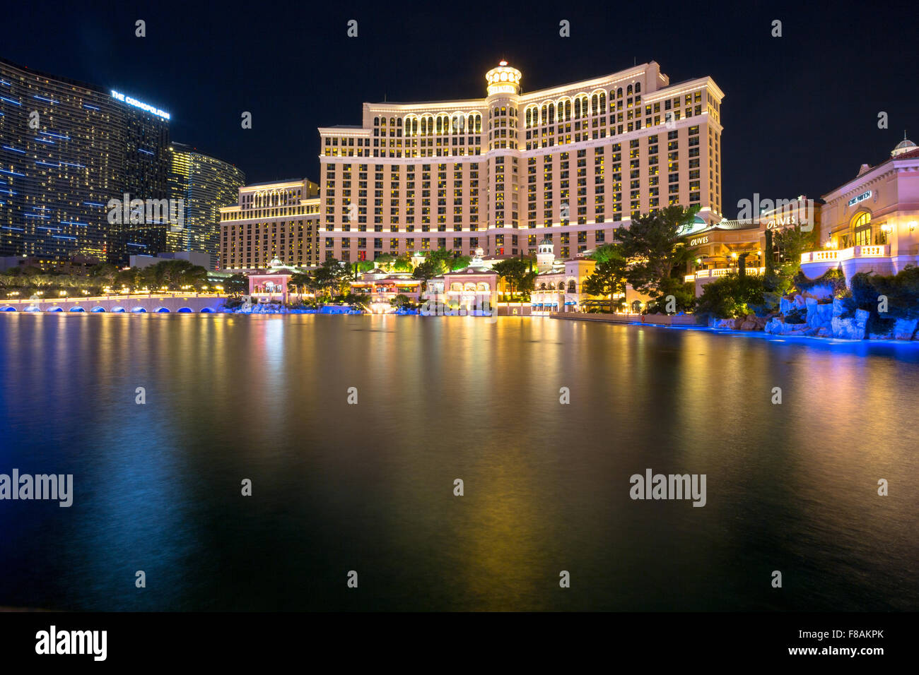 Blick Auf Die Bellagio Hotel Und Casino Und Cosmopolitan Las Vegas