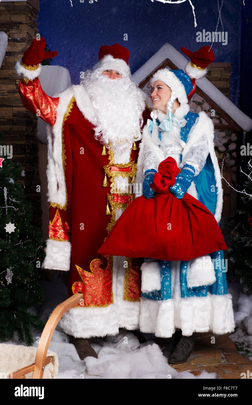 ded moroz snegurochka stockfotos ded moroz snegurochka bilder alamy. Black Bedroom Furniture Sets. Home Design Ideas