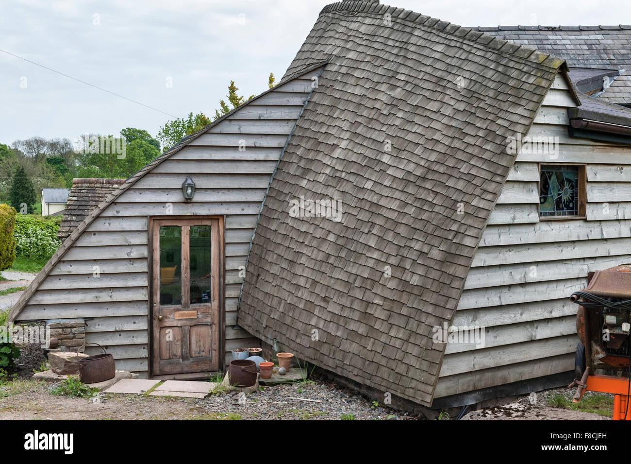 Herefordshire England Ein Selbst Gebautes Haus Holz Verkleidet