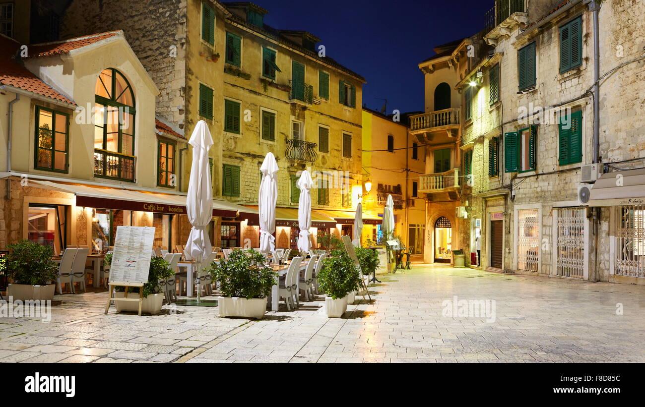 Split, Kroatien, narodnih Trg, Dalmatien Stockbild