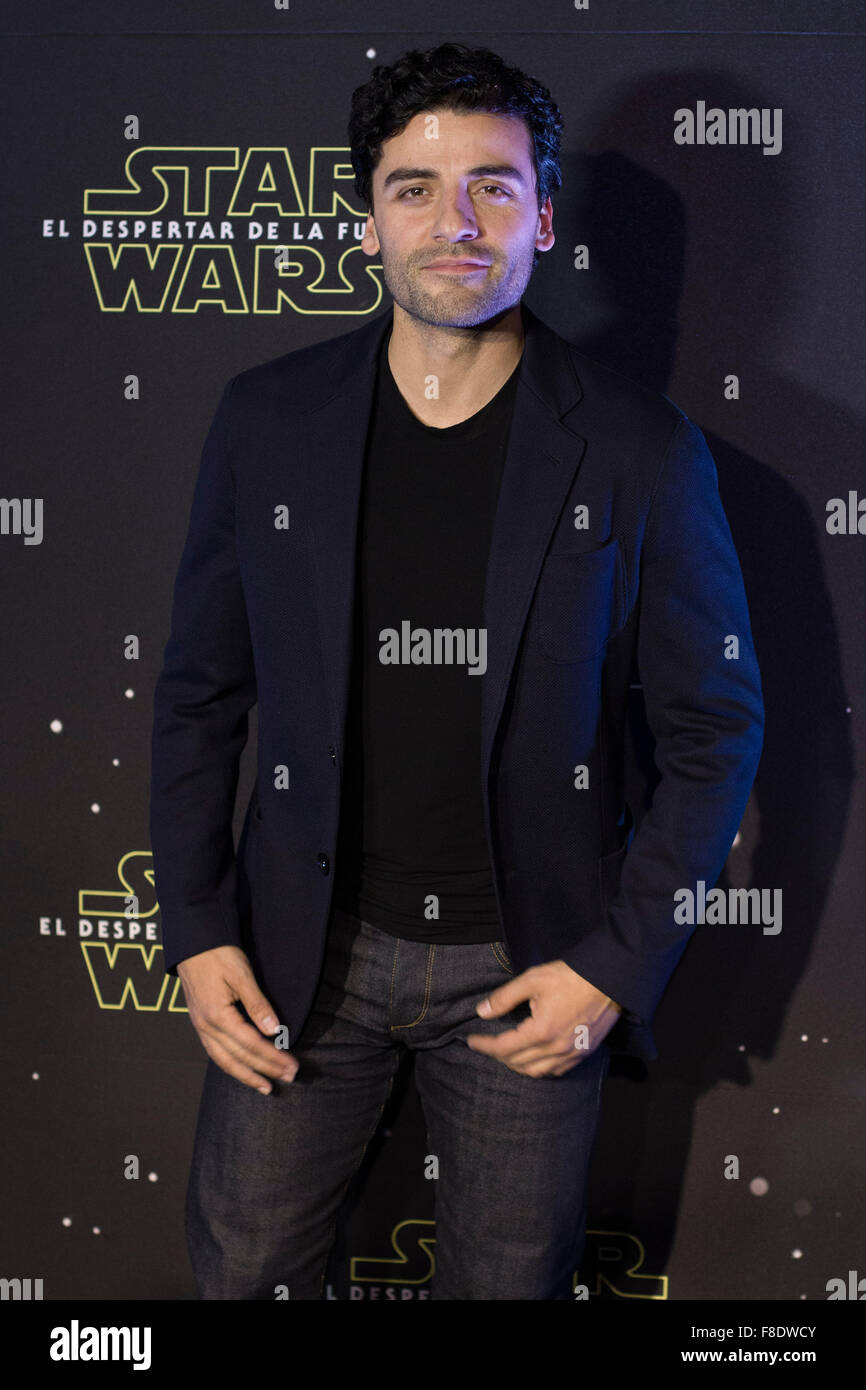 Mexico City Mexiko 8 Dezember 2015 Schauspieler Oscar Isaac