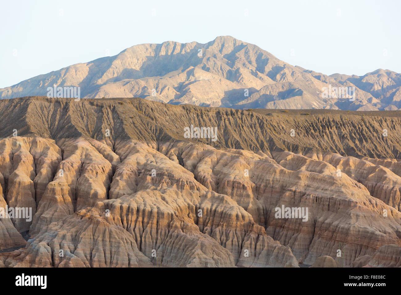 Farbigen Sonnenuntergang in Rodeo und geologischen Felsformation, Argentinien Stockbild