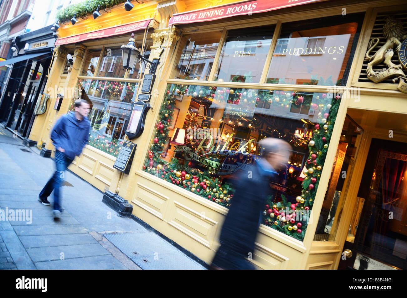 Regeln, bicentennial Restaurant. London, Vereinigtes Königreich Stockbild