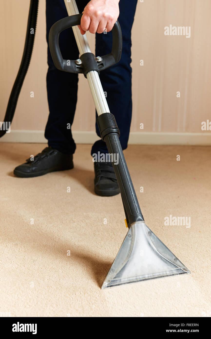 Ausrüstung für professionelle Teppichreinigung Stockbild