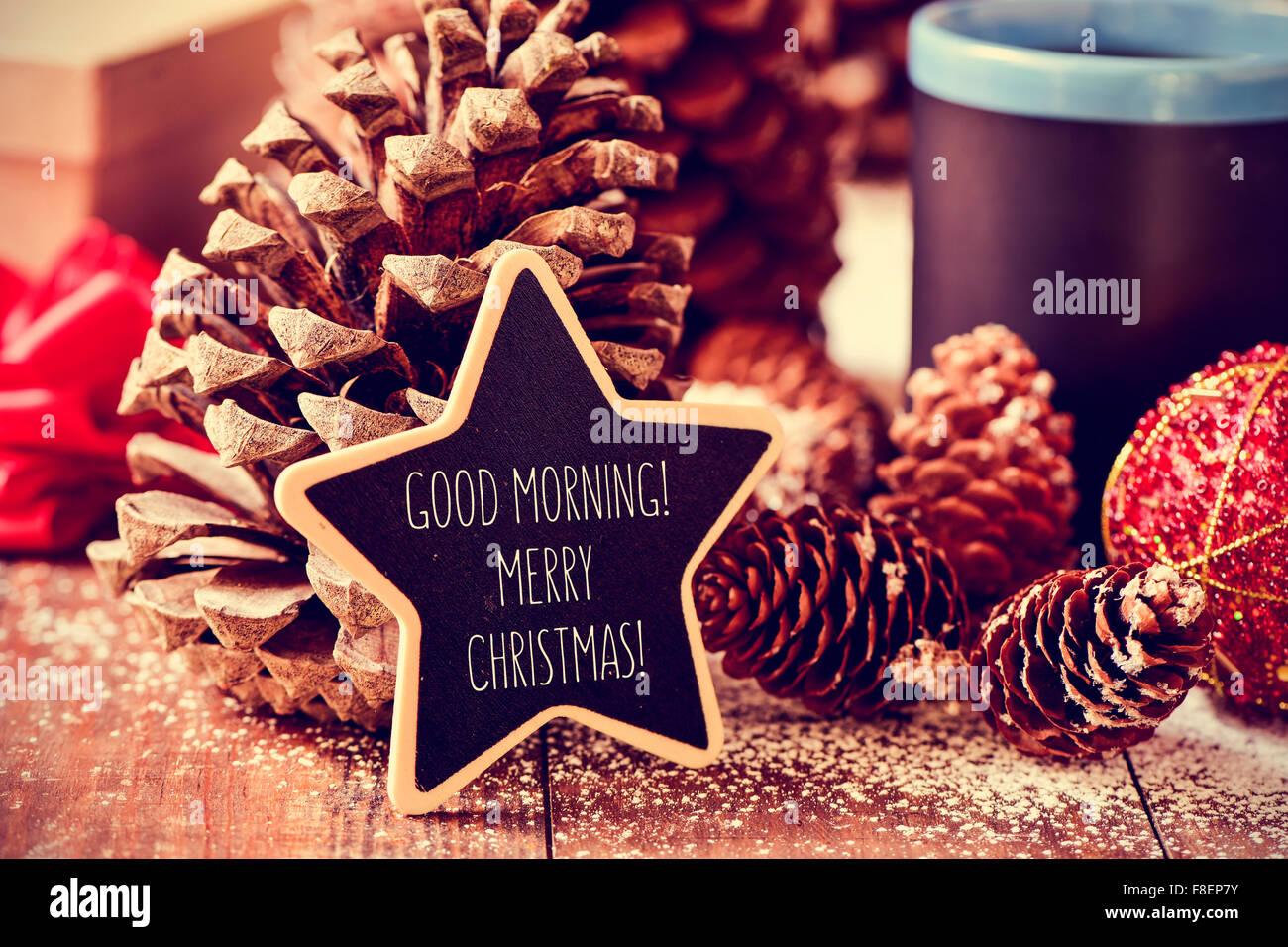 Der Text Guten Morgen Frohe Weihnachten In Einer