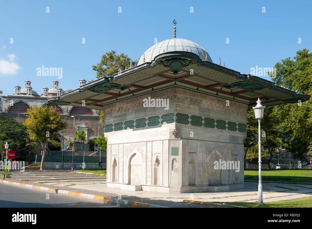 Istanbul, Tophane-Brunnen Stockbild