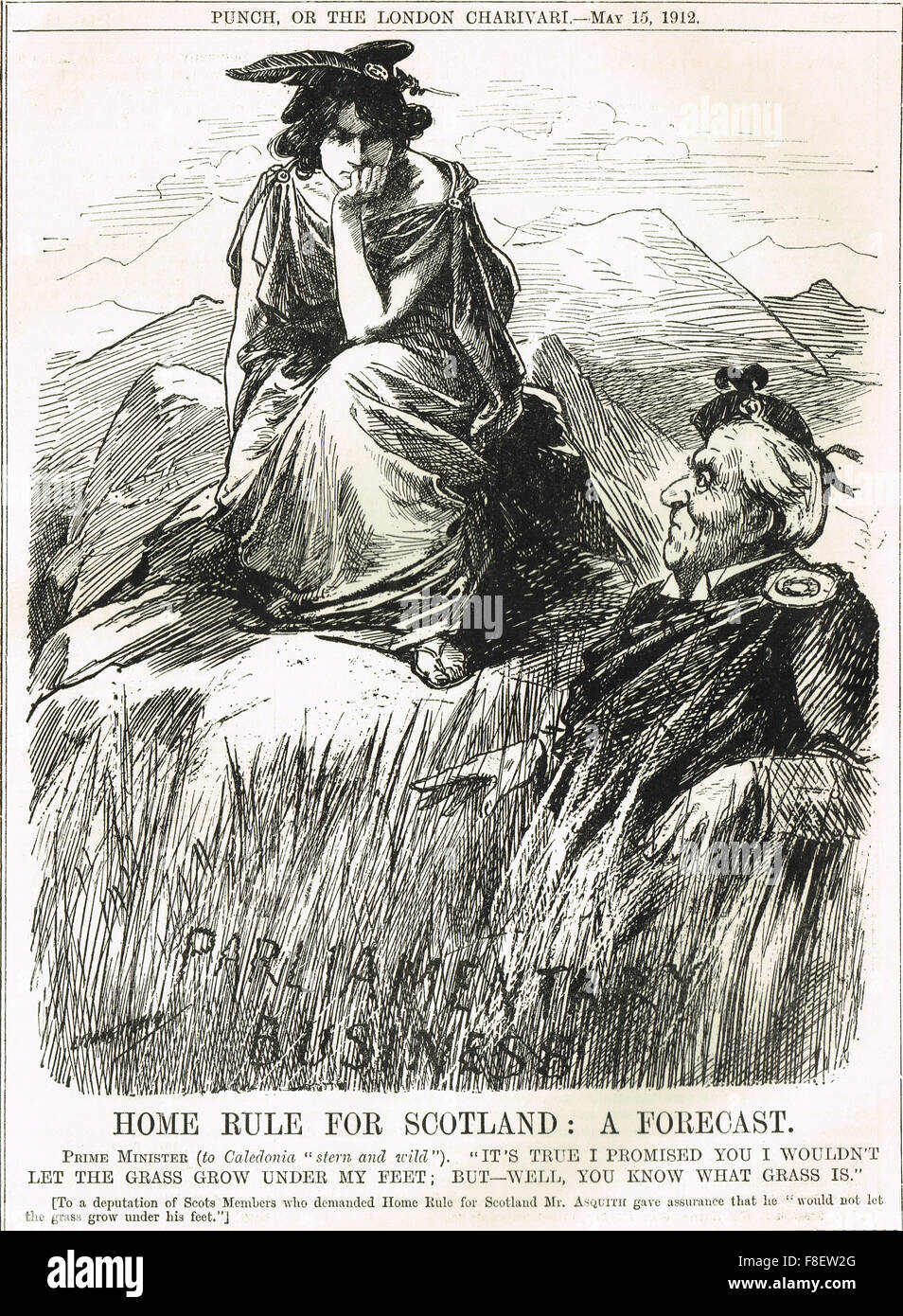 Asquith schottischen Heimat Regel: Devo Max 1912 Stil Stockbild
