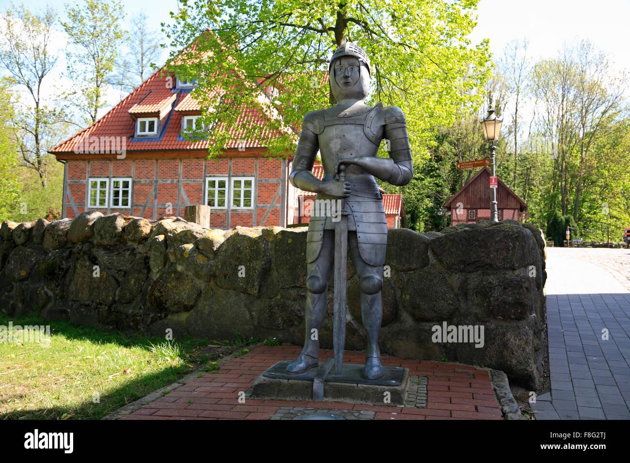 Bad Bodenteich, Ritterfigur, untere Sachsen, Deutschland, Europa Stockbild