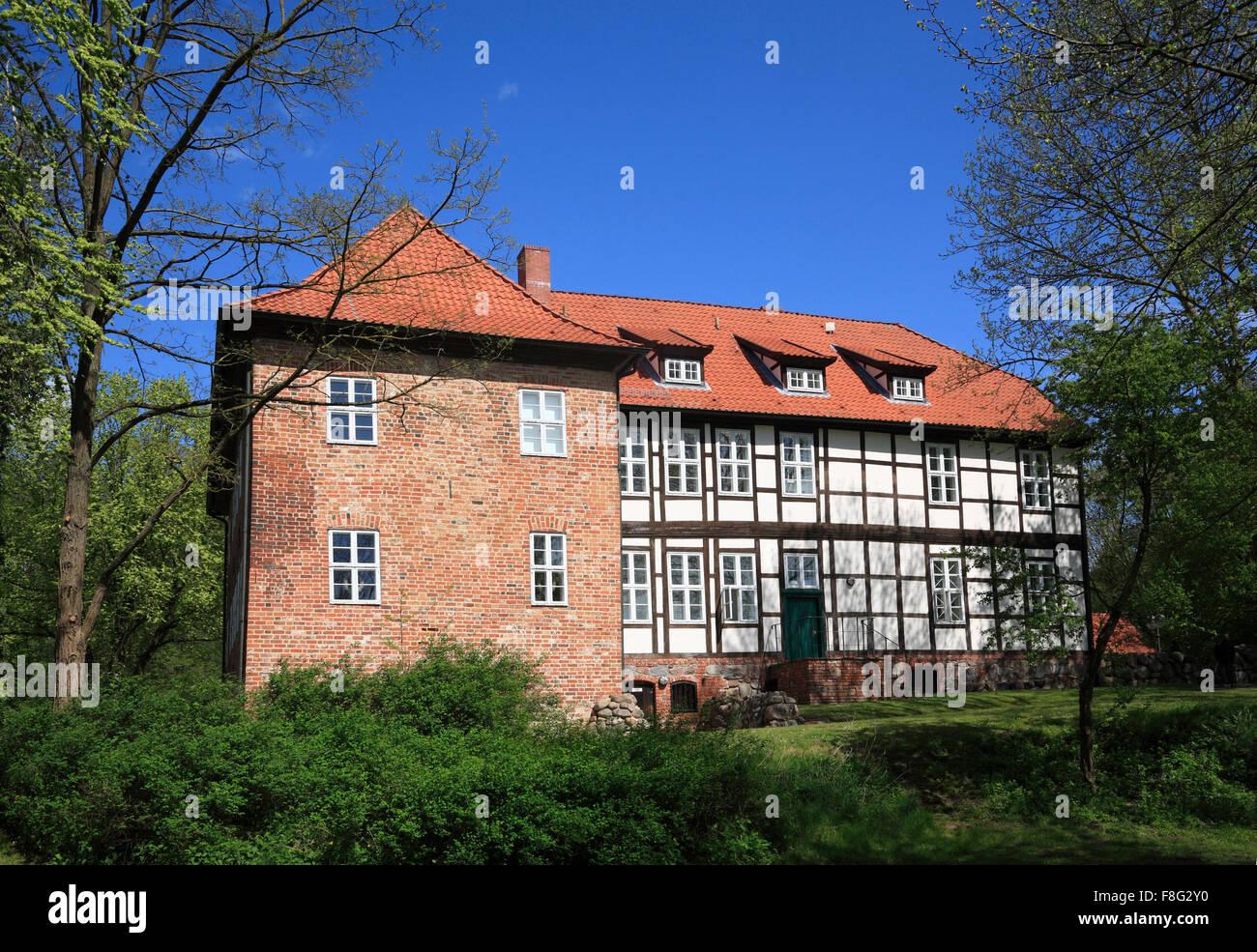 Senken Sie Burg Bodenteich, Uelzen, Niedersachsen, Deutschland, Europa Stockbild