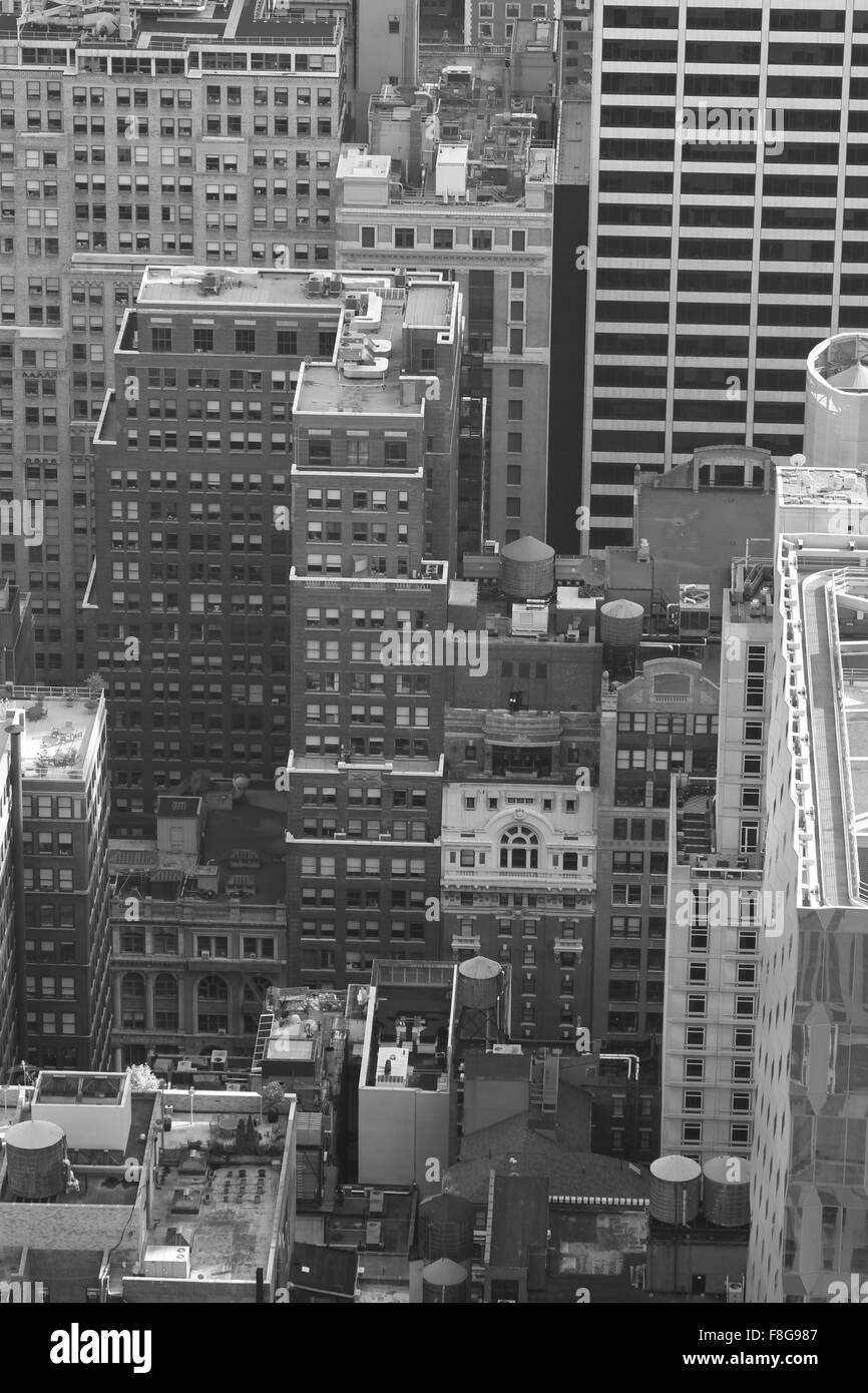 Vogelperspektive eines viertels einer typischen new yorker nachbarschaft in schwarz wei - Vogelperspektive englisch ...