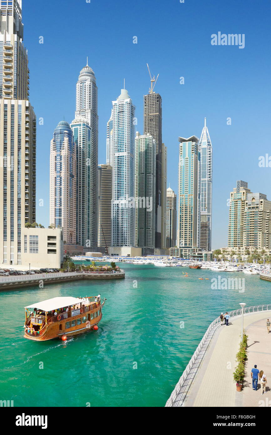 Dubai - Marina, Vereinigte Arabische Emirate Stockbild