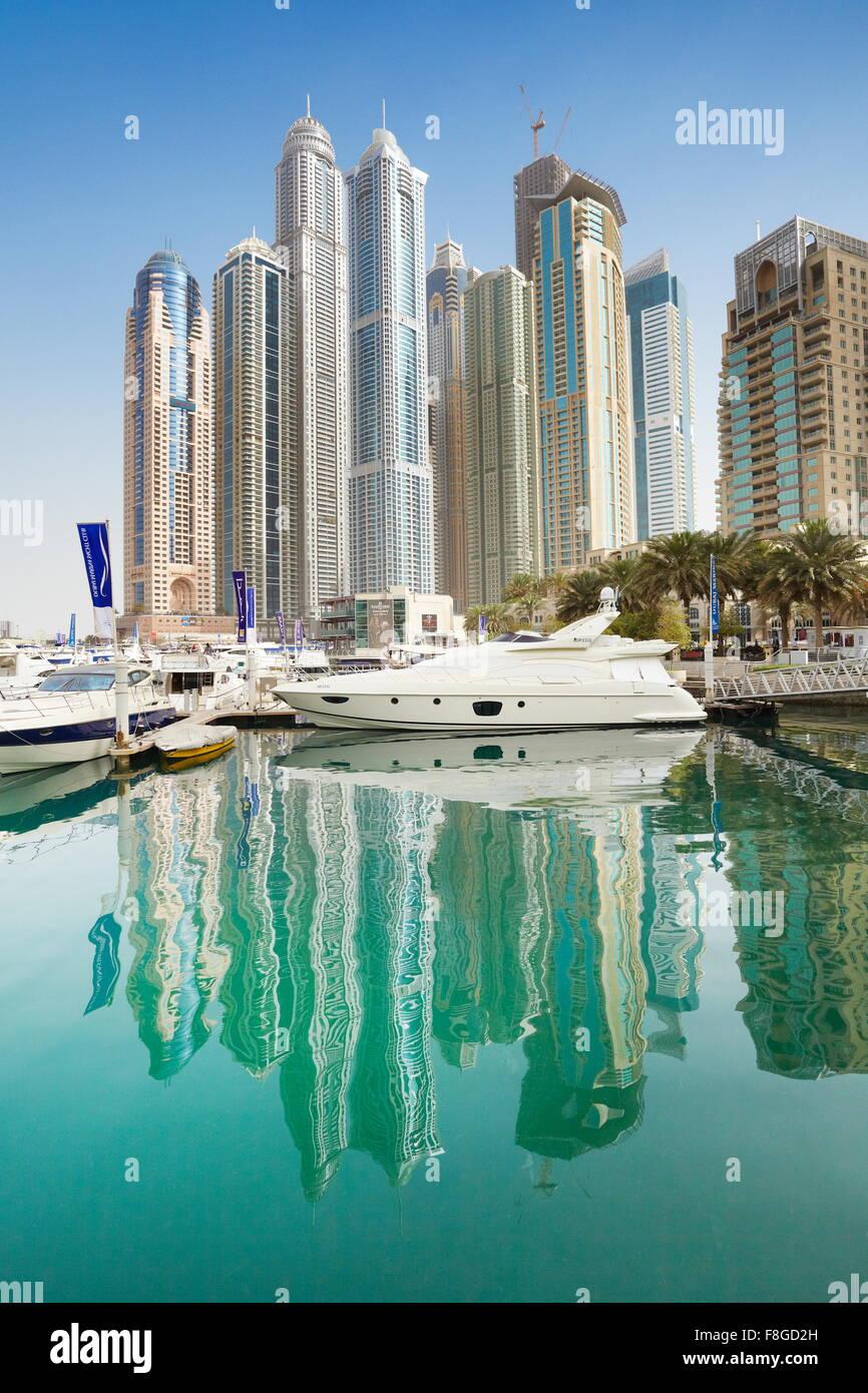Dubai City - Marina, Vereinigte Arabische Emirate Stockbild