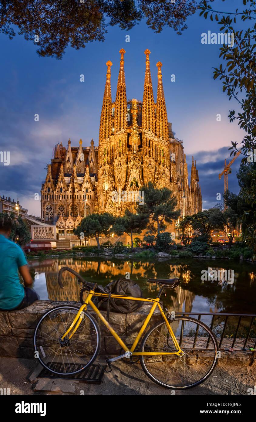 Die Kirche Sagrada Familia in Barcelona Stockbild