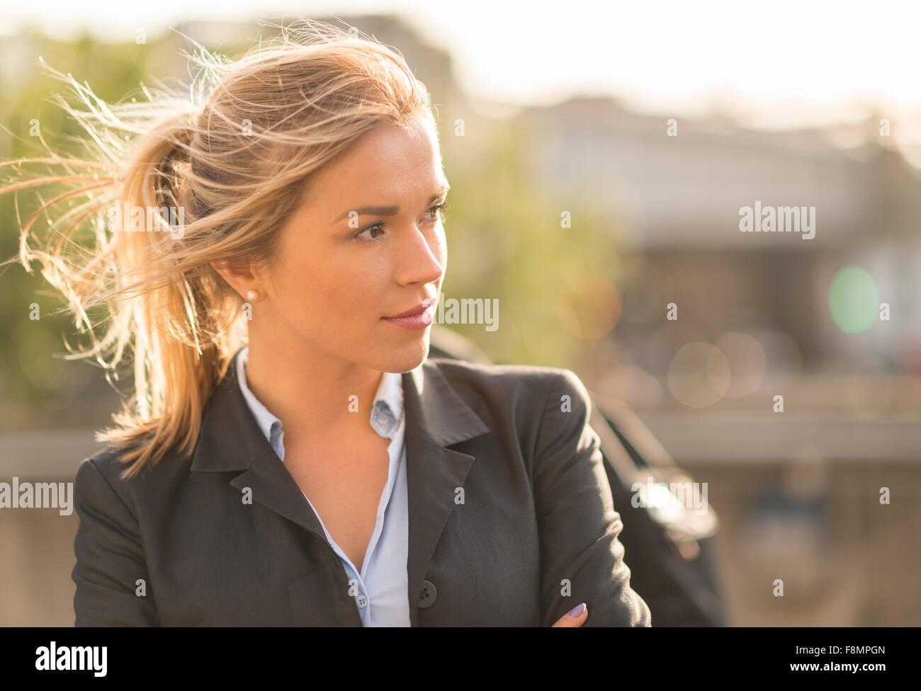 Geschäftsfrau im Pferdeschwanz Stockbild